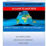 Parlement Européen Paris : Debat citoyen sur climat et energie